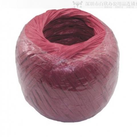 加长红色扁胶绳 约300米