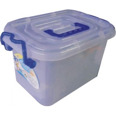 蓝天129.5手提塑料整理箱 8010型 带轮透明储物柜