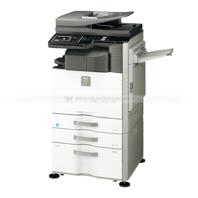 SHARP MX-2638NC彩色复印机(网络 双面自动送稿器 双面器 工作台)(标配版)