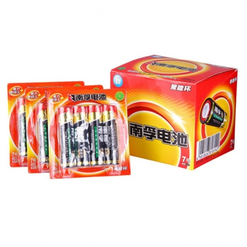 南孚高性能7号碱性电池lr3 4粒卡装