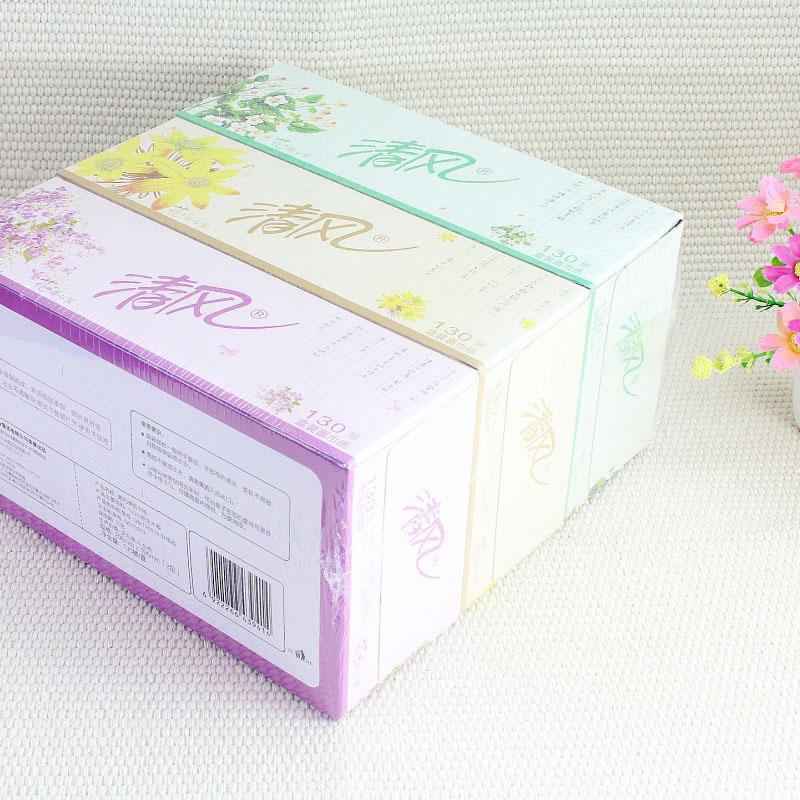APP清风盒抽面巾纸A335FS 130抽*3盒/条-2