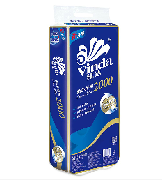 维达卷纸 蓝色包装 4层卷筒 V4073 200g/卷 10卷装-2