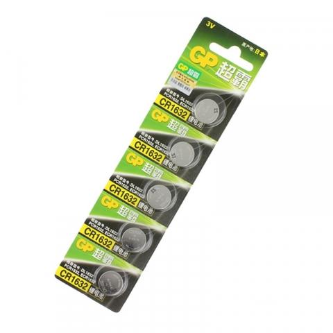 钮型碱性电池CR1632 5个起订