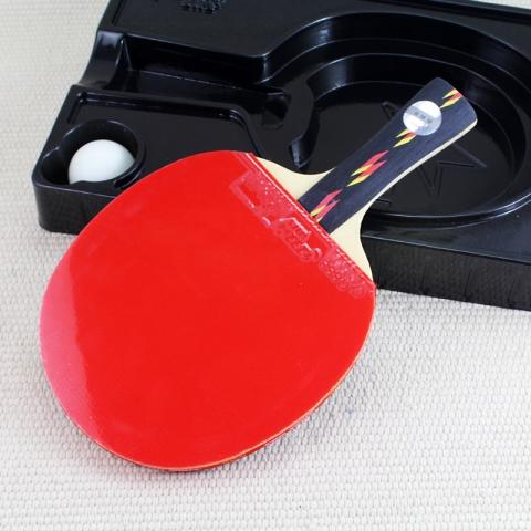 红双喜 四星 乒乓球拍 4002 双面反胶长柄