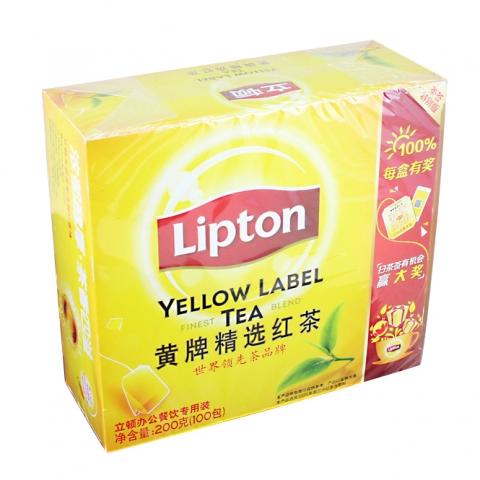 立顿茶包 精选红茶S100 (2g*100包)/盒