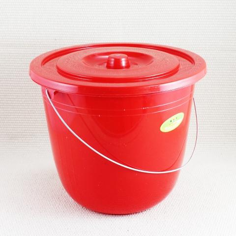 旭盛  塑料带盖 健美小水桶 10L