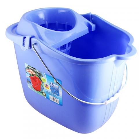 蓝天牌 塑料带滚轮 地拖桶