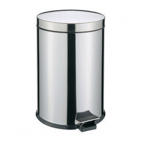 8L不锈钢脚踏式垃圾桶L711 中号 H34cm*ф25cm