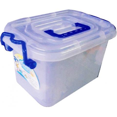 蓝天19.5L手提塑料整理箱 8003型 带轮透明储物柜