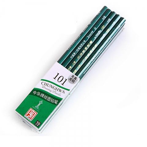 中华木质绘图铅笔 101/2B 12支一盒,需要1盒的拍12...