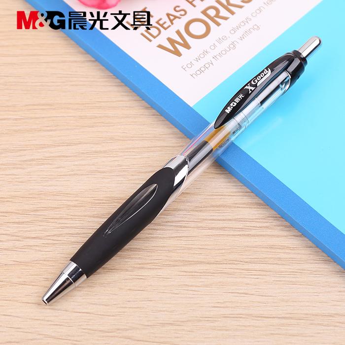 晨光按键啫喱笔GP-1350 0.5mm  黑-2