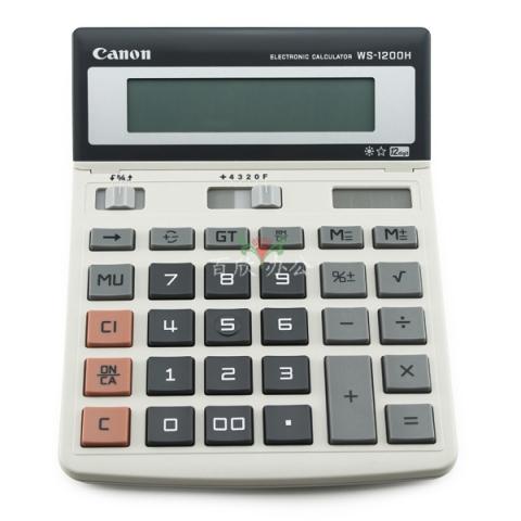 佳能 商务办公用计算器 WS-1200H 大号