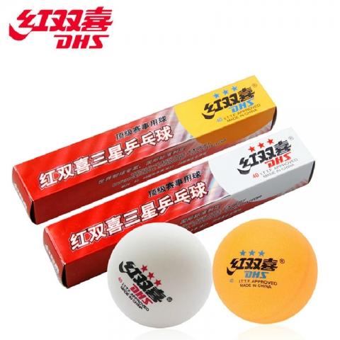 红双喜三星乒乓球 6个装