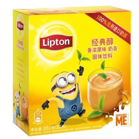 立顿醇香浓原味奶茶20包 350g