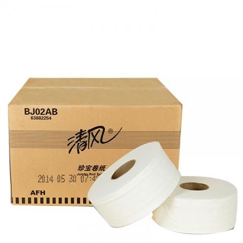 APP系列 清风大卷纸BJ02AB (黑字包装) 每箱12卷...