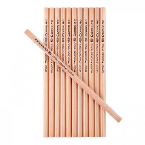 齐心MP2027六角原木铅笔 12支/盒 2B