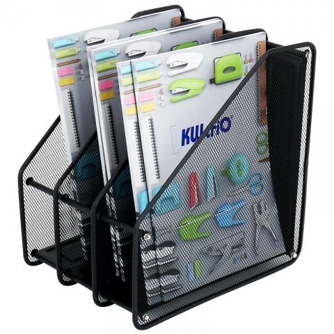 可得优三栏金属网状文件框 文件架 ZH-03
