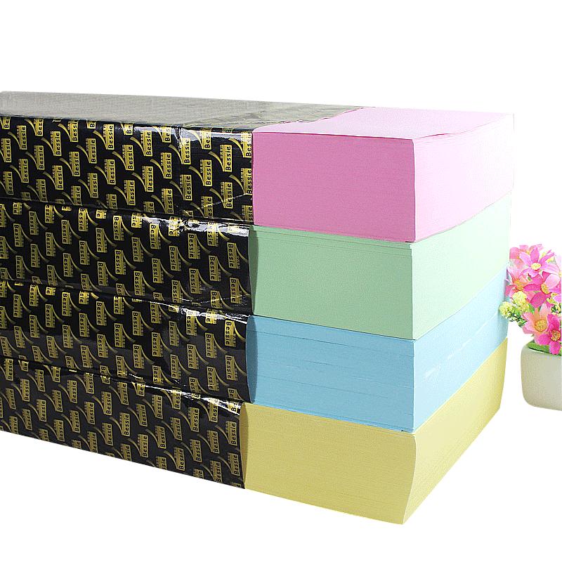 Bessie尚品智彩色复印纸A4 80G(500张)4色 5包/箱-1