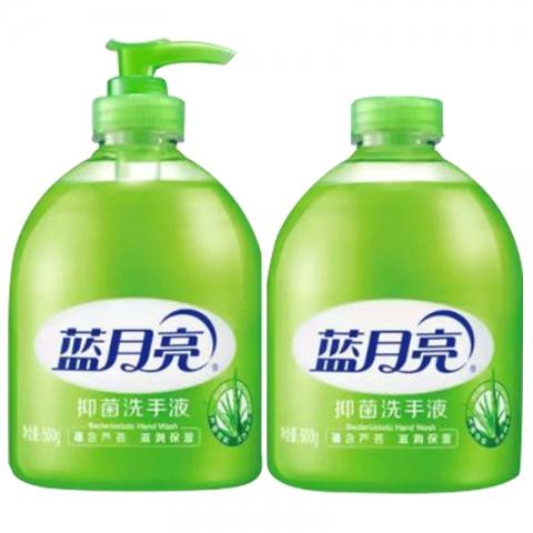 蓝月亮芦荟洗手液500g+500g补充装  6套/箱