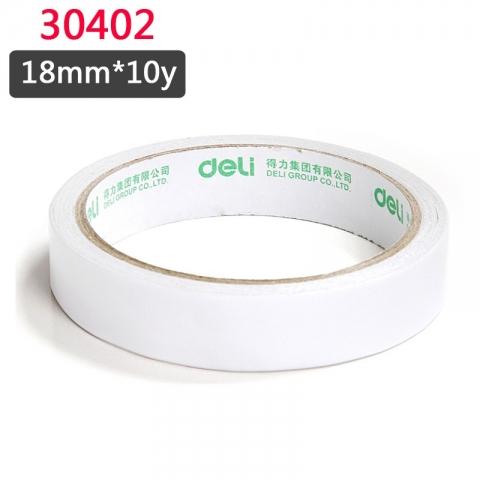 得力30402棉纸双面胶带18mm*10y