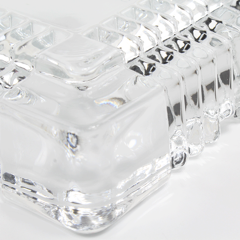 得力9579玻璃方形中烟灰缸 150*150mm-2