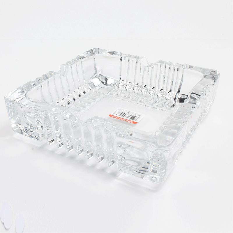 得力9579玻璃方形中烟灰缸 150*150mm-3